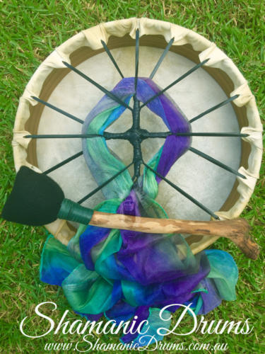 14″ Australian Shamanic Drum with Kangaroo Rawhide
